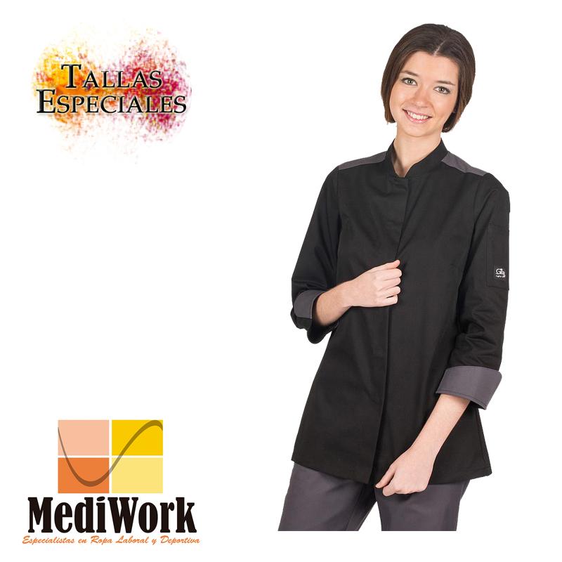 Chaqueta cocina ARTEMISA mujer negra 9355A 02