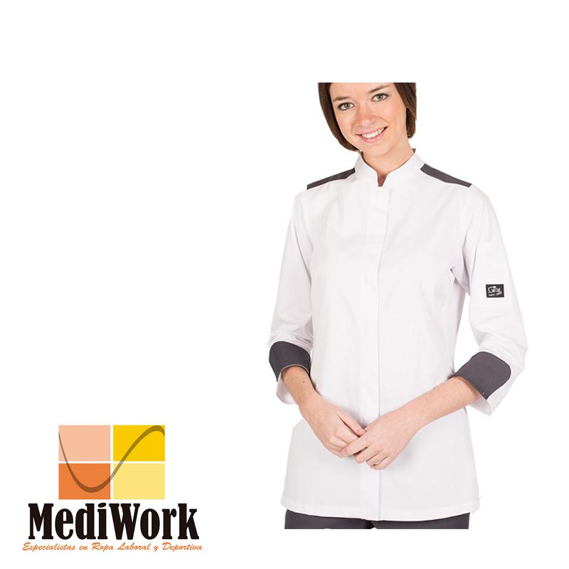 Chaqueta cocina ARTEMISA mujer blanca 9355D 02