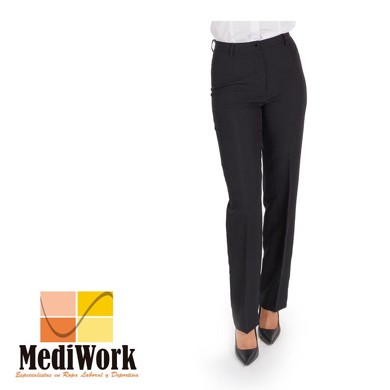 Pantalón mujer sin bolsillos negro tallaje especial 2032B 02