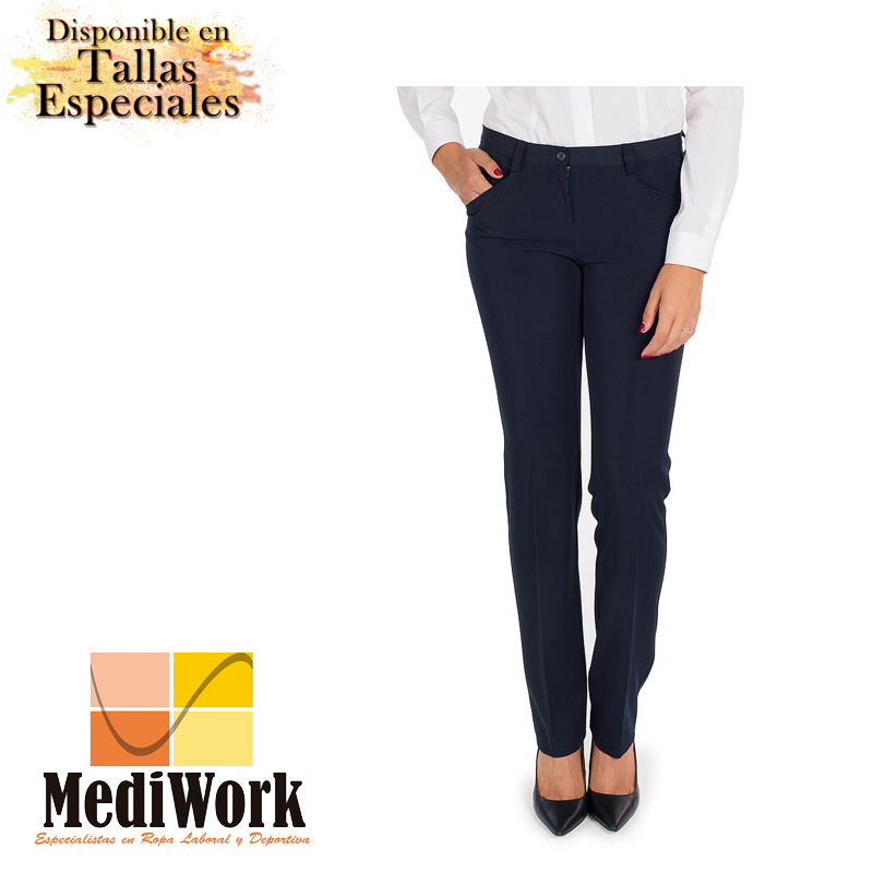 Pantalón mujer bioelastic con bolsillos tecno 2035A 02