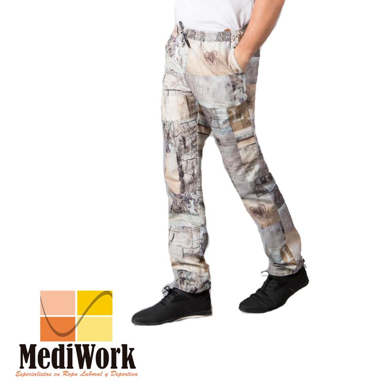 Pantalon cocina unisex goma+cordón exterior 700900 TE 02