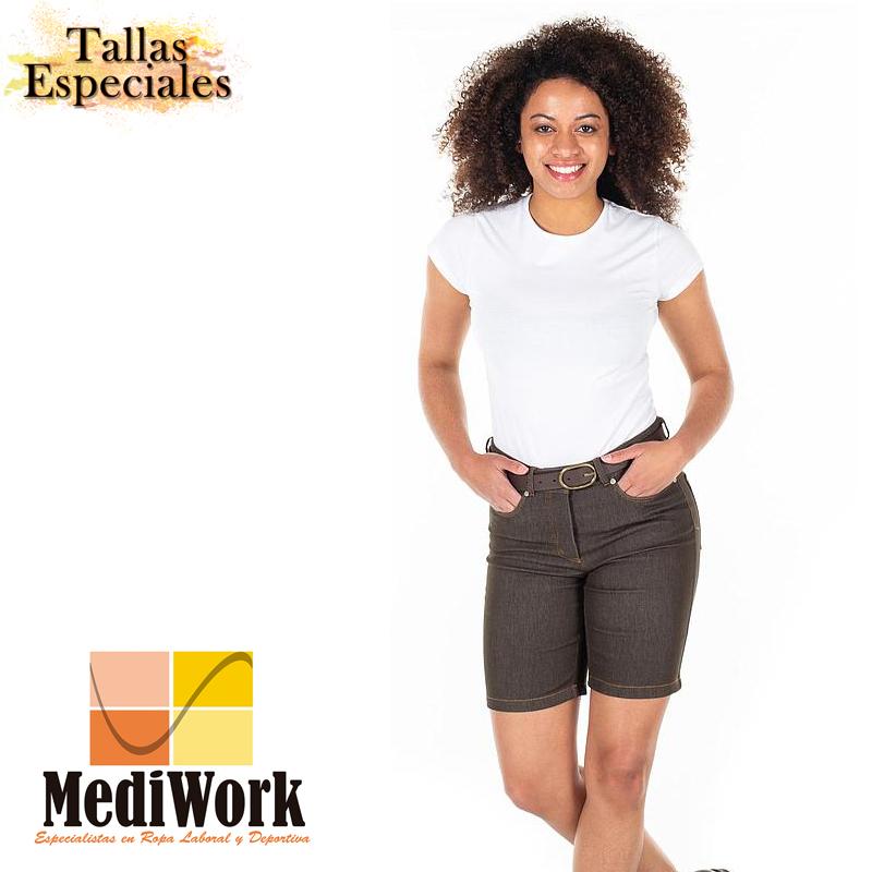 Bermuda mujer VAQUERO talle medio 2056 02