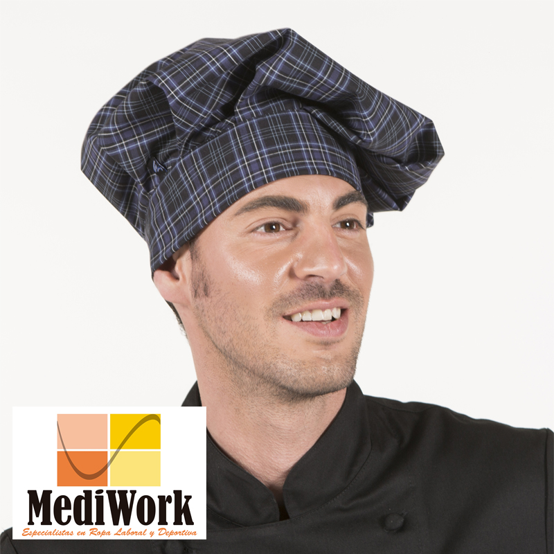 Gorro gran chef con velcro estampado 4482V 02
