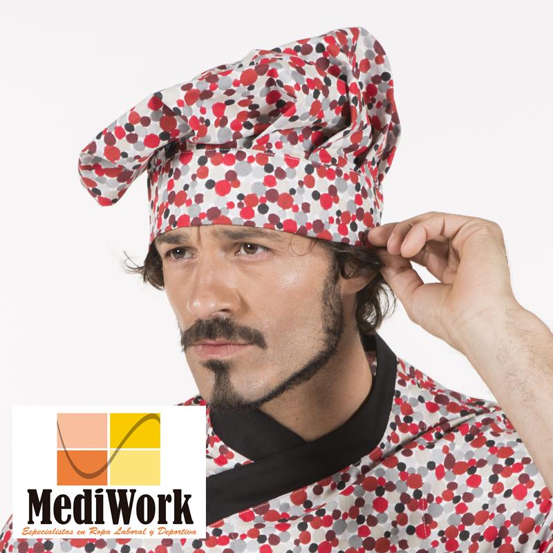 Gorro chef estampado algodón 4488 02
