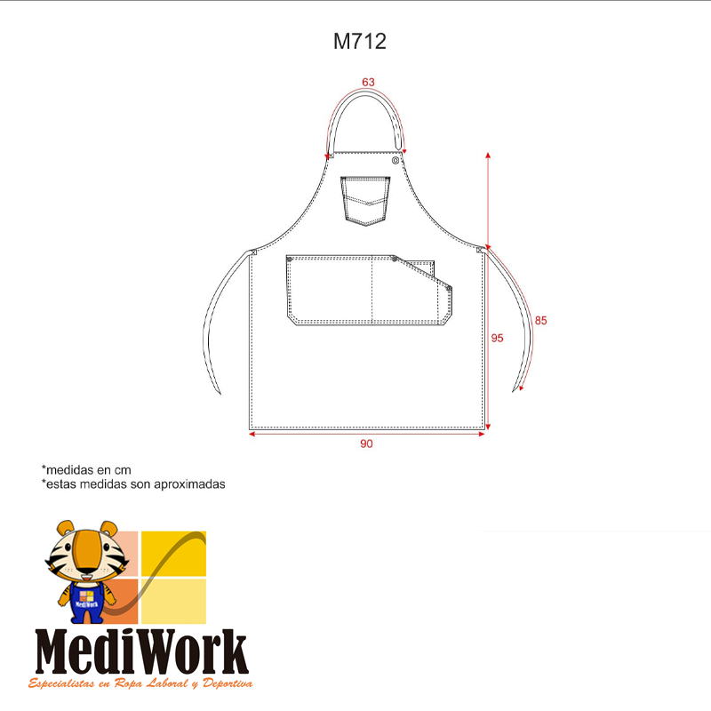 Delantal  servicios M712 01
